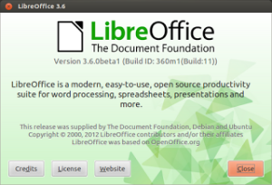 LibreOffice 3.5.5 and 3.6 available to download for testers