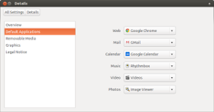 Change your default mail client and calendar in Ubuntu