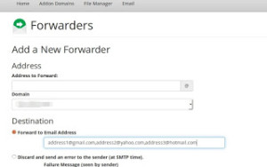 [How To] Add multiple addresses in mail forwarder in cPanel
